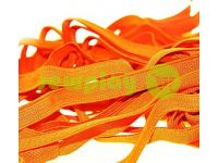 Elastic band textile orange 10 mm thick, 25 m