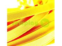 Elastic band textile yellow 10 mm thick, 25 m