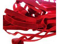 Резинка текстильная красная 10 мм плотная, 25 м