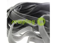 Elastic band textile gray 10 mm thick, 25 m