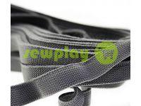 Резинка текстильная серая 10 мм плотная, 25 м