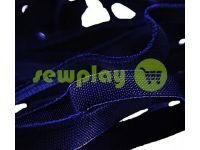 Резинка текстильная синяя 10 мм плотная, 25 м