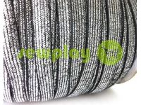 Elastic band textile lurex silver 10 mm thick