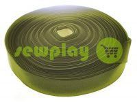 Резинка текстильная оливковая 20 мм - 40 мм плотная