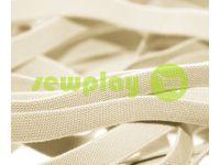 Резинка текстильная светло-бежевая 10 мм плотная, 25 м