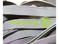 Резинка текстильная светло-серая 10 мм плотная, 25 м