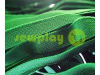 Резинка текстильная зеленая 10 мм плотная, 25 м