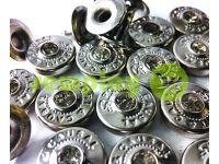 """Хольнитен с камнем """"Sport&Casual"""" односторонний 9,5 мм никель, 100 шт"""