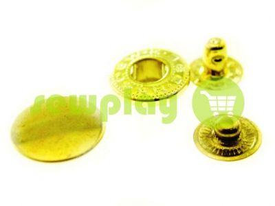 Button Alfa smooth 15 mm, 17 mm, 20 mm gold, 50 pcs sku 1335