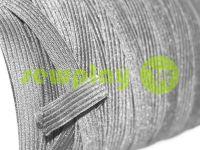 Резинка текстильная черная 10 мм стандартная, рулон 100 м