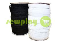 Резинка текстильная белая 10 мм стандартная, рулон 100 м