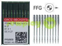 Иглы промышленные для оверлока по трикотажу Groz-Beckert B27/81X1/DCX27/DCX1 FFG 100/16
