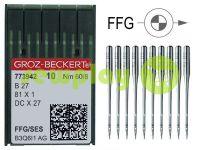 Иглы промышленные для оверлока по трикотажу Groz-Beckert B27/81X1/DCX27/DCX1 FFG 60/8