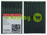 Иглы промышленные для оверлока по трикотажу Groz-Beckert B27/81X1/DCX27/DCX1 FFG 70/10