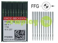 Needles industrial for knitwear with thin shank Groz-Beckert DBX1/1738/16X257 FFG 110/18