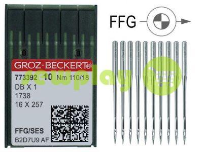 Иглы промышленные для трикотажа с тонкой колбой Groz-Beckert DBX1/1738/16X257 FFG 110/18