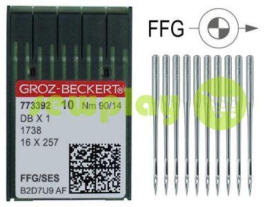 Иглы промышленные для трикотажа с тонкой колбой Groz-Beckert DBX1/1738/16X257 FFG 90/14