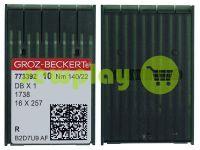 Иглы промышленные универсальные с тонкой колбой Groz-Beckert DBX1/1738/16X257 R 140/22