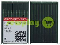 Иглы промышленные универсальные с толстой колбой Groz-Beckert DPX5/134/135X5 R 65/9
