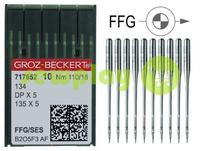 Needles industrial for knitwear with thick shank Groz-Beckert DPX5/134/135X5 FFG 110/18