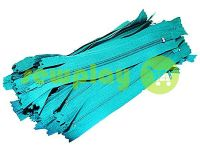 Молния брючная спиральная 18 см тип 4, цвет бирюзовый 257