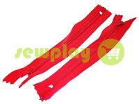 Молния брючная спиральная 18 см тип 4, цвет красный 519