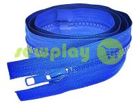 Zipper tractor type 5 one slider 85 cm, color blue 213