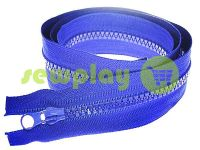 Zipper tractor type 5 one slider 85 cm, color blue 223