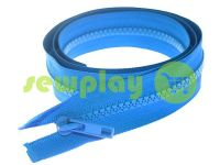 Zipper tractor type 5 one slider 85 cm, color blue 274